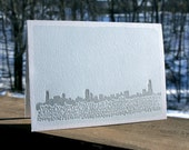 Happy Holidays from Chicago - letterpress card (single)