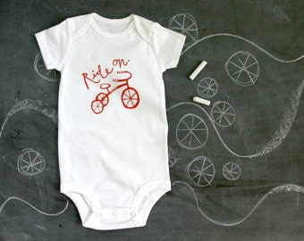 Ride On tricycle - baby one piece bodysuit