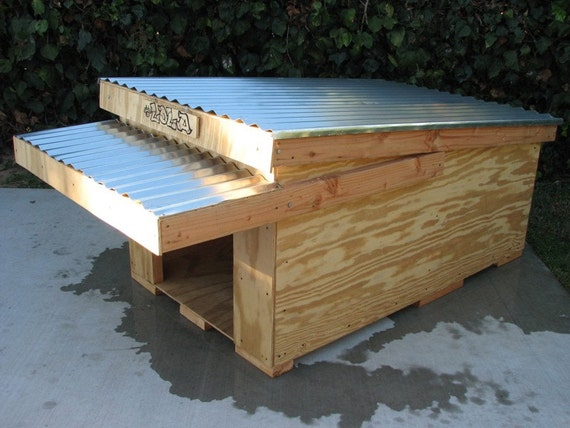 Items similar to modern dog house plans on etsy for Modern dog house designs