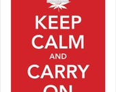 Keep Calm and Carry On  (Marijuana Leaf) - 8.5 x 11 PRINT POSTER