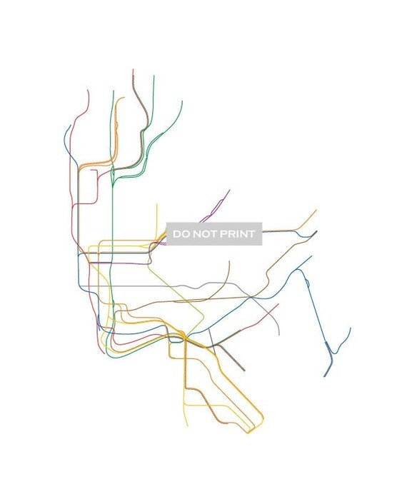 NYC Subway Map ( LINE ART ) ...