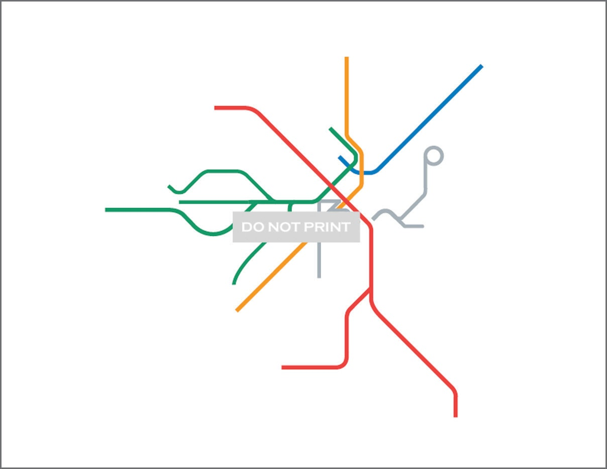 Line Art Map : Boston metro subway map line art print by dualhabit
