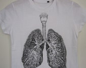 Anatomical Lung t-shirt / sizes XS, M, L