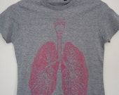 Anatomical Lung t-shirt / sizes XS, S