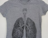 Anatomical Lung t-shirt / sizes XS, S, M, L