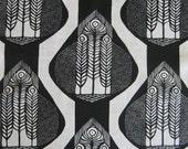 Handprinted fabric piece 50x50 cm