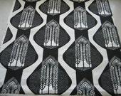 Hand screenprinted fabric piece 75cm x 75cm