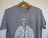 Anatomical lung t-shirt / male size M, L