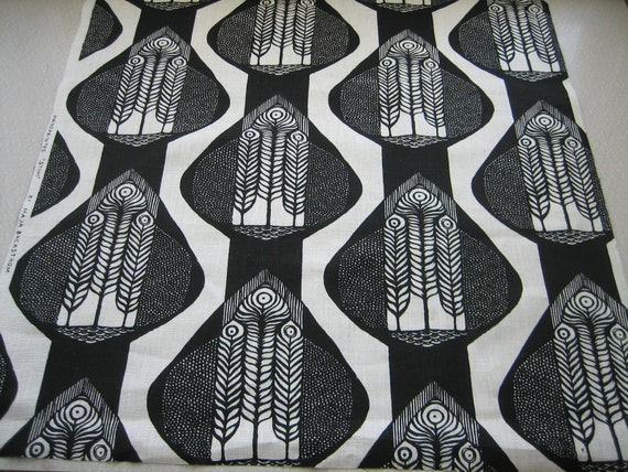 Hand screenprinted fabric piece 75cm x 75cm