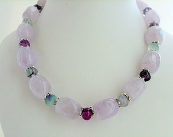 Necklace - Higher Self  with Amethyst and Fluorite
