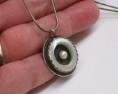 Eclipse Pearl Sterling Silver Necklace June Birthstone