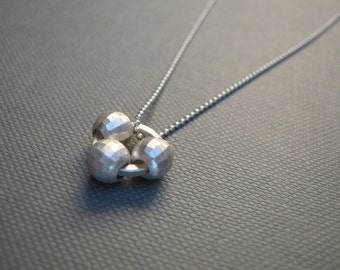 Disco Ball Sterling Silver Pendant Necklace ready to ship