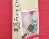 Blue Bird iPhone Case for 4 Postcard Vintage Collage Art