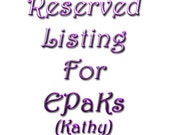 Reserved for EPaKs - - Special Order Hackle Comb Combo
