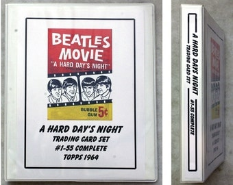 FREE SHIPPING 1964 Complete A Hard Days Night Beatles Trading Card Set