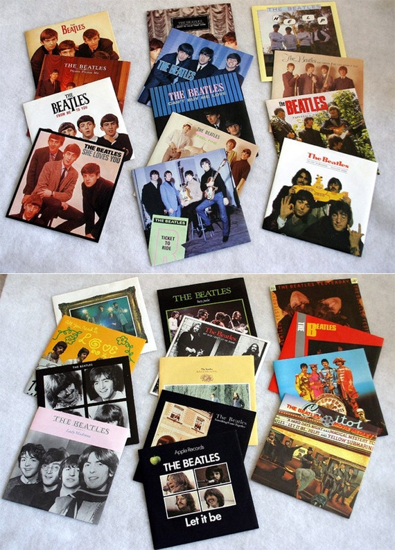1982 never played the beatles singles collection box set. Black Bedroom Furniture Sets. Home Design Ideas