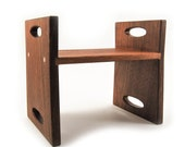 Kids Step Stool, modern personalized walnut wood