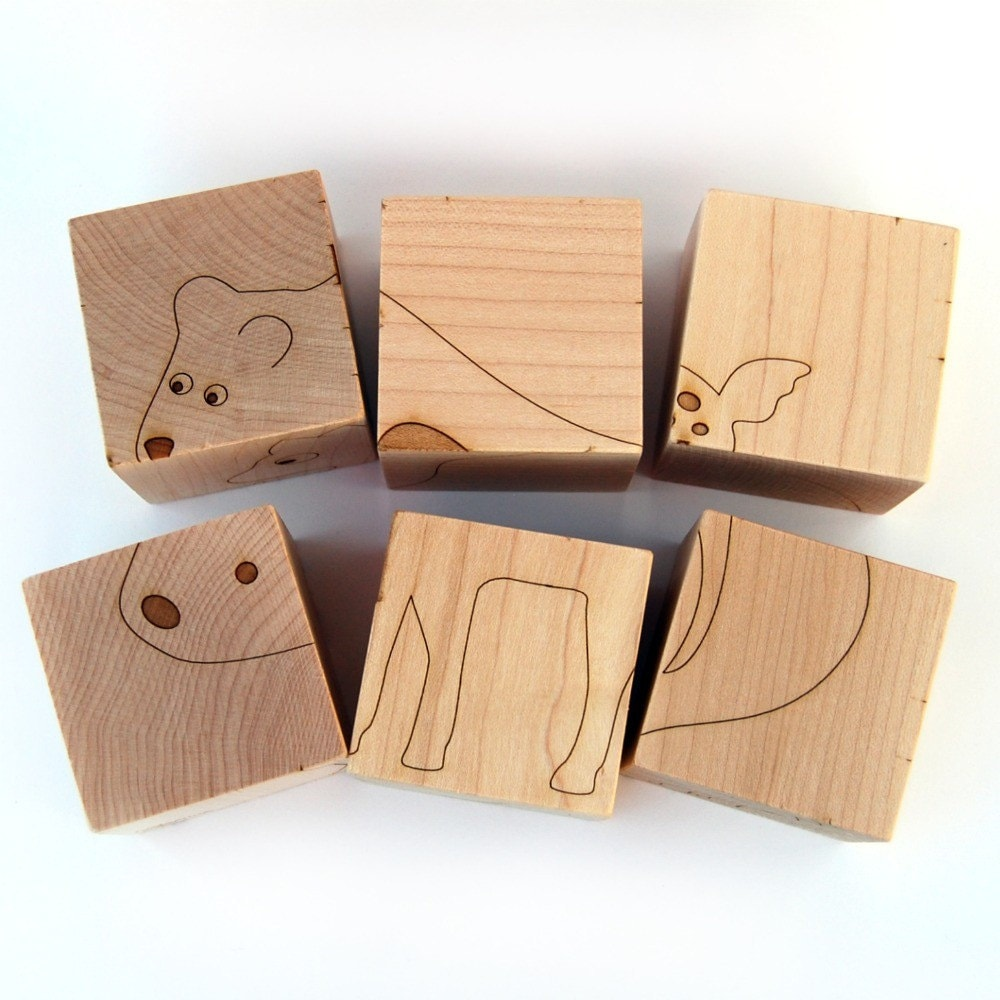 Wood Block Puzzle ~ Sale wooden block animal puzzle pictures on natural