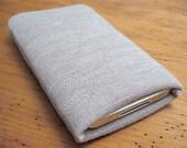 Handmade iPhone 4S Sleeve Vintage Fabric Oatmeal iSockit