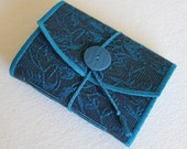 Midnight Blue Small Fabric Softcover Journal by PrairiePeasant