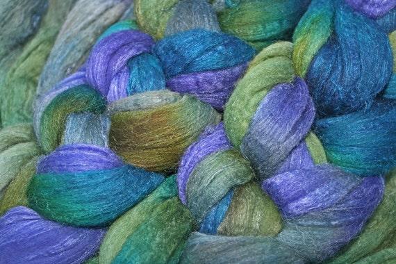 Merino-Tussah Silk Spinning Fiber - 'Kili'
