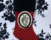 RESERVED FOR AlleyCatEclectic Victorian Cameo Stocking - The Tell Tale Heart - Warning Label Creations