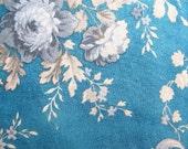 SALE Destash Fabric - Blue Chrysanthemum by Yuwa