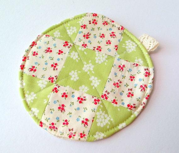 Patchwork Coasters - Flowerbed OOAK