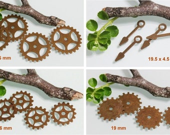 Trinity Vintage Patina Mix Steampunk Gear set. 16 pcs. F853/F854/F855/F856-VP