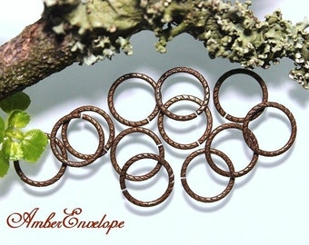 Trinity Vintage Patina 12 mm Etched Jumpring-16Gauge. 12 pcs. JR107-VP