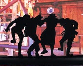 The Hillbilly Group Stomp Handmade Wood Display Silhouette Decoration  sgrp004