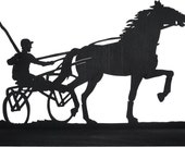 Dynamic Horse Harness Racer Handmade Wood Silhouette Decoration  sptr003