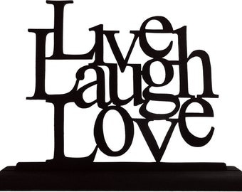 Live, Laugh and Love Handmade Wood  Display Silhouette Decoration  sfam006