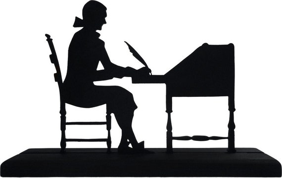 Writer Silhouette Female
