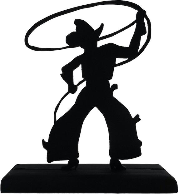 Cowboy profile silhouette clip art - photo#15