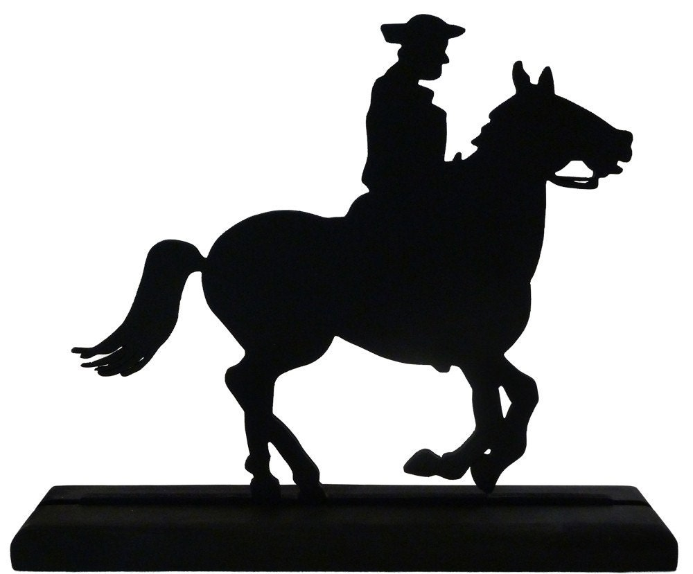 Galloping Horse Silhouette Rider and galloping horse