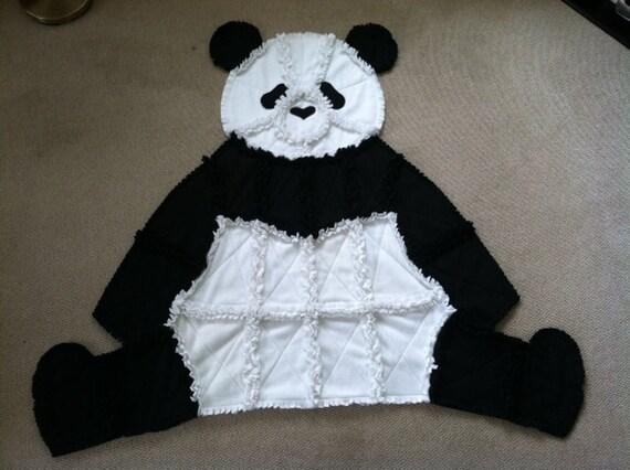 Panda Rag Fleece Blanket
