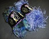 Wild Violet Glitter Eyelash Pom Pom Novelty Yarn 2 skeins