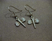 Antiqued Silver Dragonfly Dangle Earrings