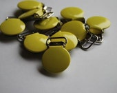 10PCS-1/2'' Yellow Round top suspender/pacifier clips