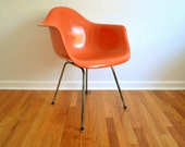 SALE Early Herman Miller Eames Armshell Chair by Zenith in Salmon