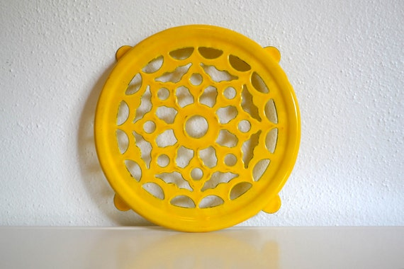 Yellow Enamel Trivet