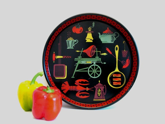 1950's Cookout Metal Serving Tray (13 Inch)