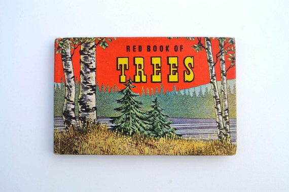 1948 Red Book of Trees - LIttle Illustrated Pocket Book