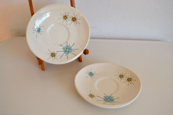 Franciscan Starburst Saucers - Set of Two