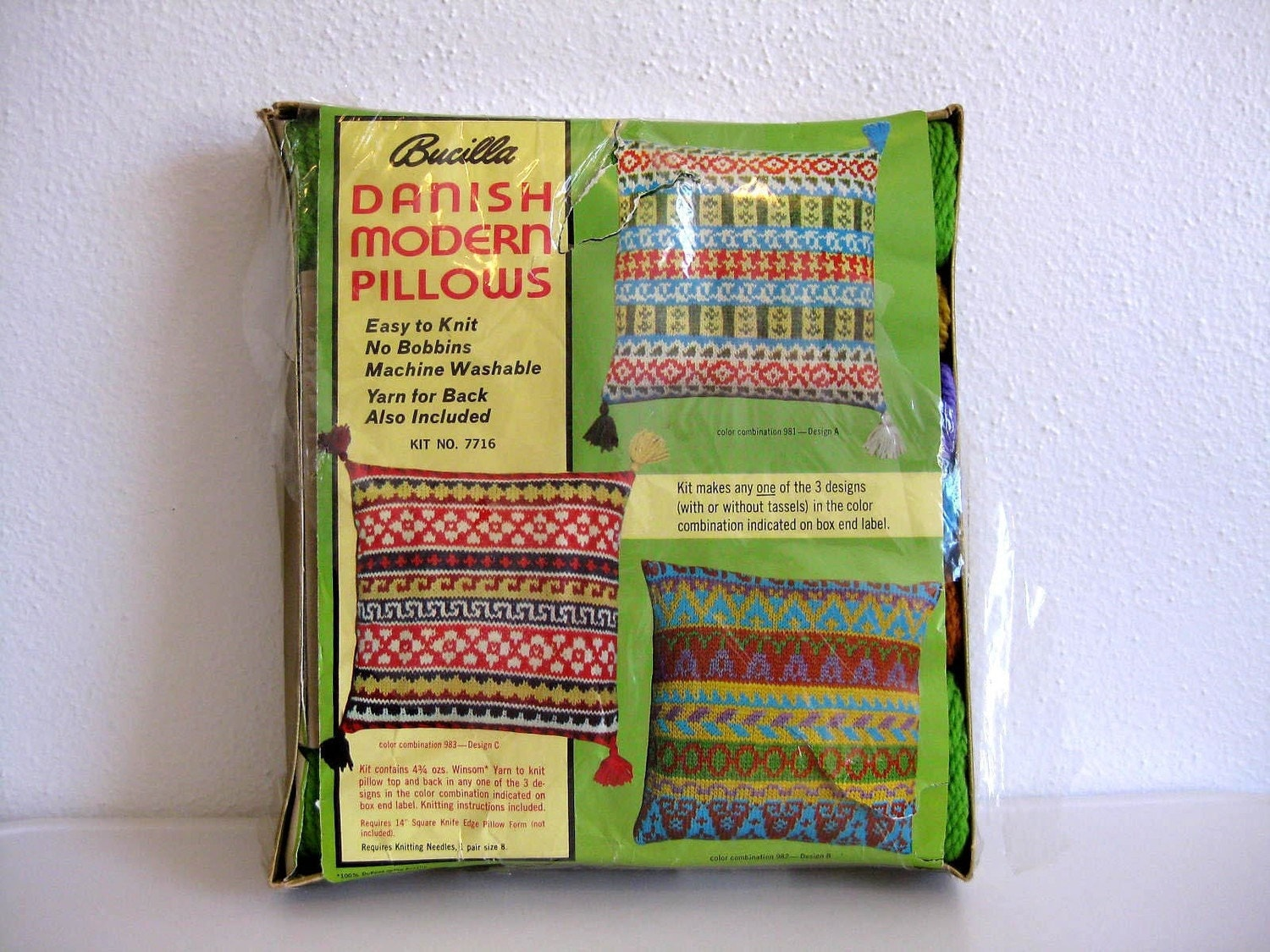 Modern Knitted Pillow : Danish Modern Knitting Pillow Kit by Buscilla by TheNeighborsPool