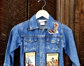 Denim Jean Jacket with Rodeo and Cowboy Appliques