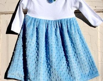 Boutique Infant and Toddler Designer Minky Dress