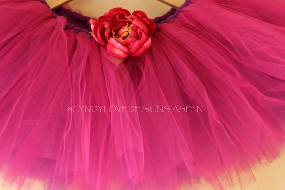 Little Girls Bright Pink Fucshia Tutu Skirt for Dress up Photography Prop Princess Ballet Costume