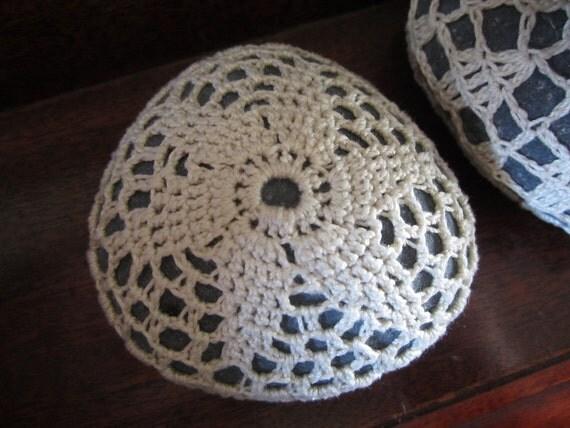 Crochet Covered Stone, Curious Pebble, Do Art Daily Show No.28